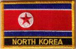 North Korea Embroidered Flag Patch, style 09.